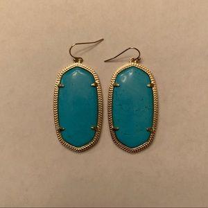 light blue kendra scott dangle earrings